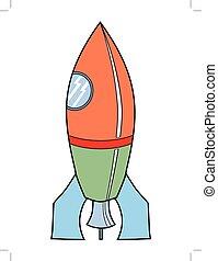 jouet, symbolique, fusée