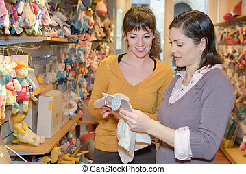 jouets, achats, ami, mère