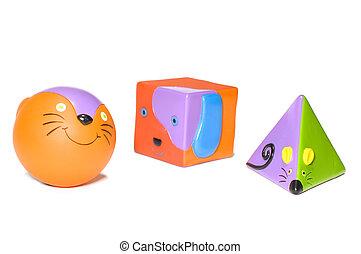 jouets, ensemble, enfant