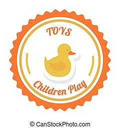 jouets, garçon, desing, illustration., vecteur