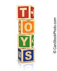 jouets, icône, 3d