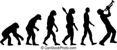 joueur, évolution, trompette