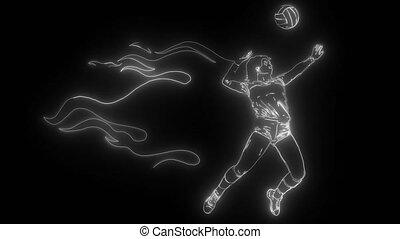 joueur, américain, fond, couleurs, drapeau, basket-ball
