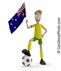 joueur, australien, football