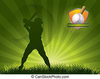 joueur, balle, base-ball, crosse, coups