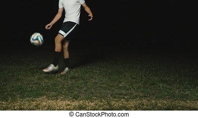 joueur, balle, football jouant