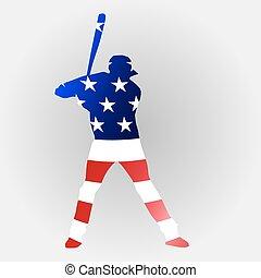 joueur, base-ball américain