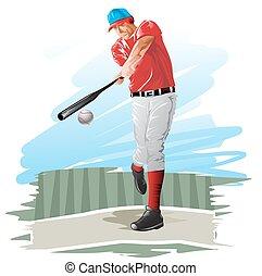 joueur base-ball, illustration