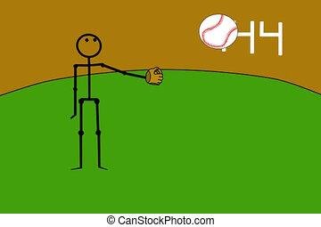 joueur base-ball, jonglerie