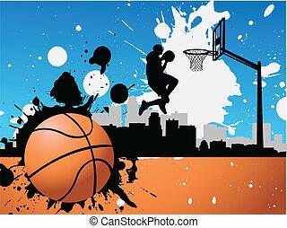 joueur, basket-ball