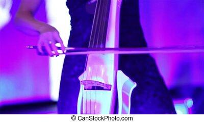 joueur basse, double, musicien, vendange, instrument musical, contrebasse, mains, jouer, contrebasse