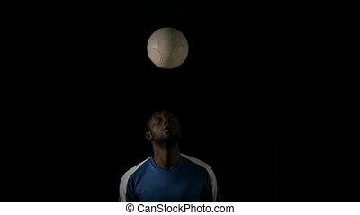 joueur, boule football, titre