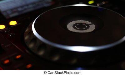 joueur, dj, fête, mélangeur, cd