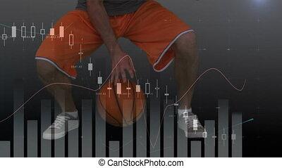 joueur, données, basket-ball, jouer, traitement