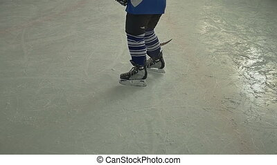 joueur, dribble, hockey