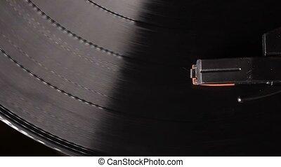 joueur, enregistrement, platine, vinyle, vendange