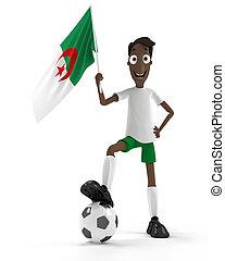 joueur, football, algérien