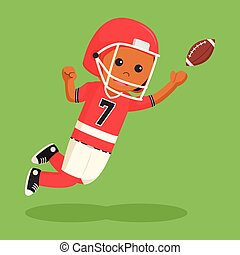 joueur, football américain, boule contagieuse