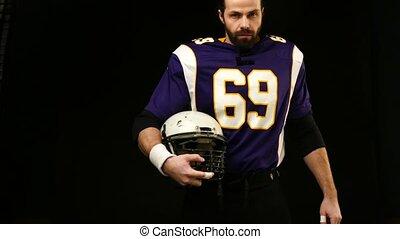 joueur, football américain, casque