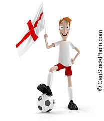joueur, football, anglaise