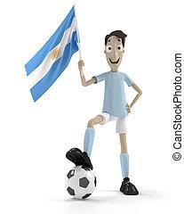 joueur, football, argentin