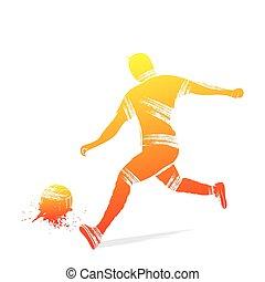 joueur, football, conception