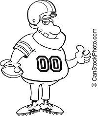 joueur, football, dessin animé