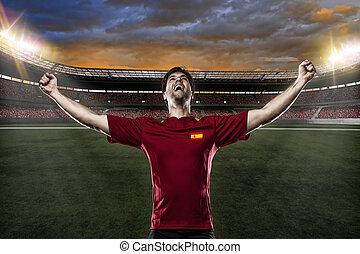 joueur, football, espagnol