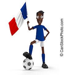joueur, football, francais