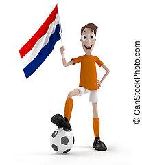 joueur, football, hollandais