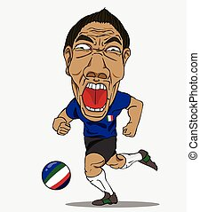 joueur, football, Italie