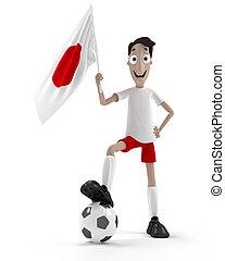joueur, football, japonaise