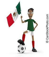 joueur, football, mexicain