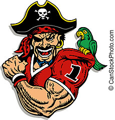 joueur, football, pirate