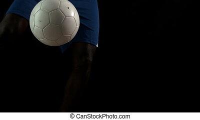 joueur, football, régler, balle