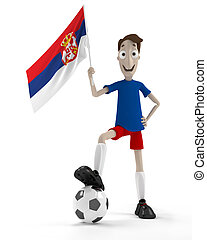 joueur, football, serbian