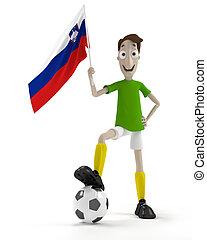 joueur, football, slovene