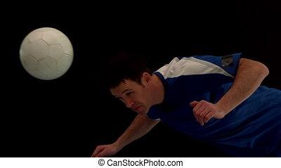 joueur, football, titre, balle