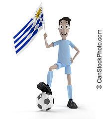 joueur, football, uruguayen