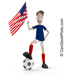 joueur, football, usa