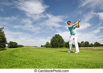 joueur, golf