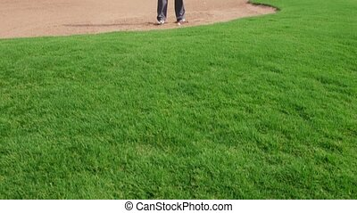 joueur golf professionnel, golf, jouer