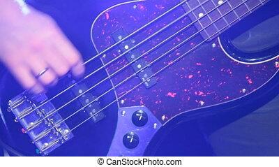 joueur guitare, basse