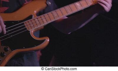 joueur, guitare, batteur, basse