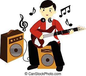 joueur guitare