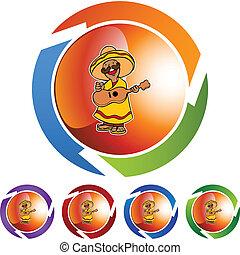 joueur guitare, mexicain