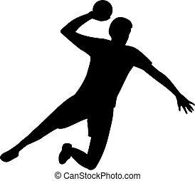 joueur, handball