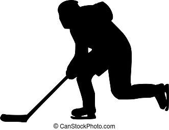 joueur, hockey bâton