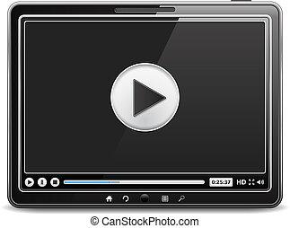 joueur, informatique, vidéo, tablette