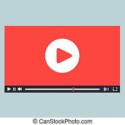 joueur, interface, conception, vidéo